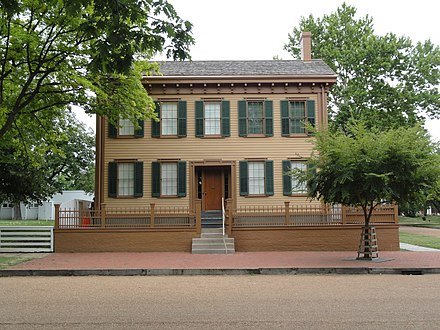 Lincoln's home in Springfield, Illinois Abes House.JPG