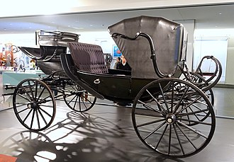 Barouche - Image: Abraham Lincoln's carriage (barouche), c. 1860 1865, on loan from the Studebaker National Museum, view 2 National Museum of American History DSC00334
