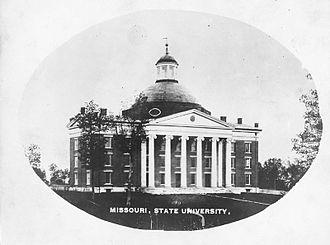The Columns (Columbia, Missouri) - Image: Academic Hall Original