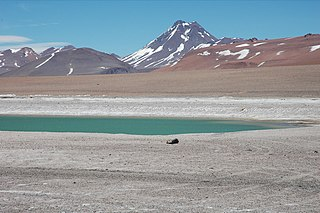 Acamarachi mountain in El Loa Province Chile