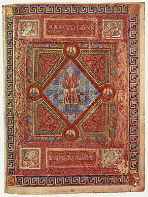Ramwod - Portrait of Ramwod on the Codex Aureus of St. Emmeram