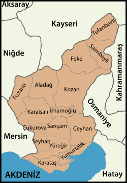 Adana location districts.svg