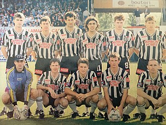 Adelaide City FC - An Adelaide City side featuring several Socceroos and home-grown talents went on to win the 1993–94 Australian championship.