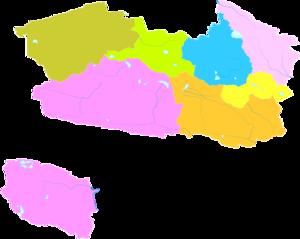 Haixi Mongol and Tibetan Autonomous Prefecture - Image: Administrative Division Haixi