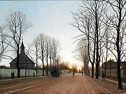 Adolph Larsen - View of Frederiksberg Allé and Frederiksberg Church.jpg