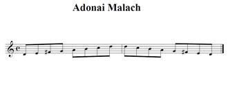 Adonai malakh mode - Adonai malakh mode on D.