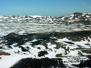 Skútustaðahreppur - Image: Aerial View of Krafla and Leirhnjúkur 21.05.2008 16 08 34