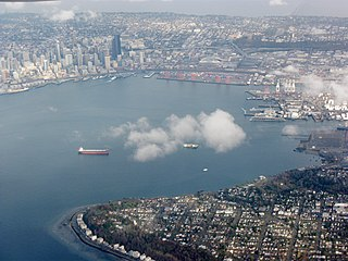 Elliott Bay bay of Puget Sound at Seattle