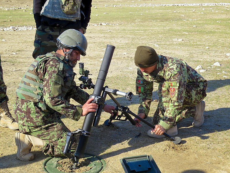 Military Mortar Sizes : File afghan national army soldiers adjust an m mm