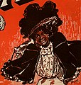 African American woman with telephone art detail from sheet music cover- Hello Ma Baby (cropped).jpg