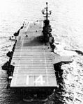 Aft view of USS Ticonderoga (CVA-14) c1955.jpg
