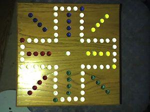 Wahoo (board game) - a homemade aggravation board