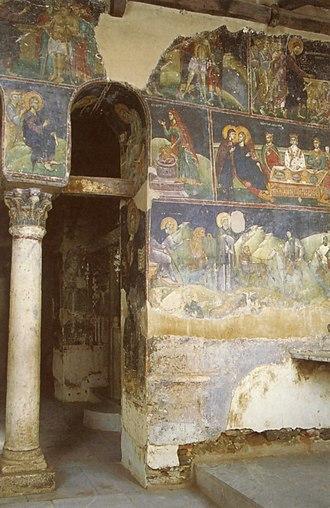 Church of Saint Nicholas Orphanos - Image: Agios Nikolaos Orfanos Fresken