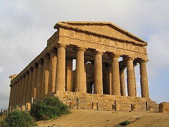 English: Temple of Concordia - Agrigento, Italy