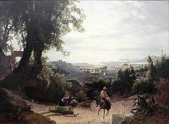 August Ahlborn - Syracuse in morning light, 1836