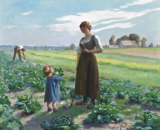 Aimé Perret The lettuce patch 1893