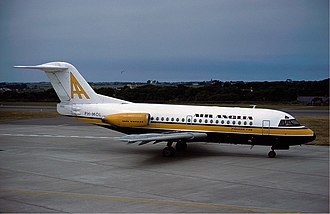 Fokker F28 Fellowship - Third prototype leased to Air Anglia