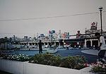 Akihabara Bascket Ball Park with rollerbladers, 1993 (by Danny Choo).jpg