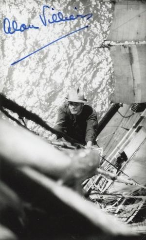 Alan Villiers - Alan Villiers aboard the Grace Harwar in 1929