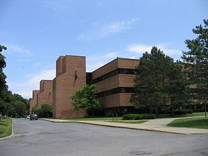 Albany High School (New York) - A rear view of Albany High's academic building showing Towers One, Two, and Three.