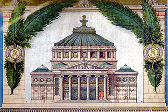 Romanian Athenaeum - Albert Galleron's drawing of the Atheneum