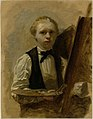 Albert Neuhuys (1844-1914) - Zelfportret voor de ezel - RP-T-1940-248 - Rijksmuseum.jpg