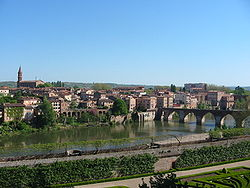 Part of the old city of Albi