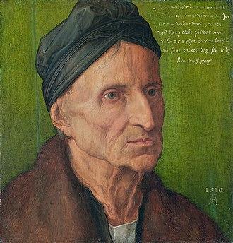 Michael Wolgemut - Albrecht Dürer, Portrait of Michael Wolgemut, 1516