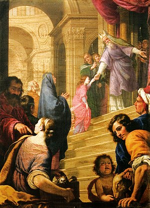 Alfonso Boschi - Alfonso Boschi, Presentation of Mary to the Temple, La chiesa dei Santi Michele e Gaetano