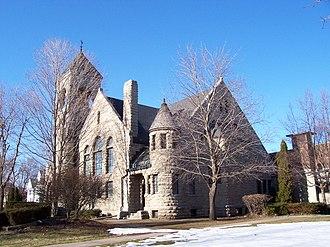National Register of Historic Places listings in Winnebago County, Wisconsin - Image: Algoma Boulevard Methodist Church Oshkosh Wisconsin