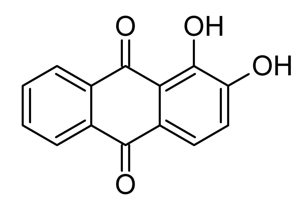 File:Alizarin chemical structure.png - Wikimedia Commons