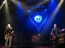 Alkaline Trio in 2011. Left to right: Skiba, Grant, and Andriano.