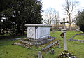 All Saints Theydon Garnon table tomb at north (Canon 6D).jpg