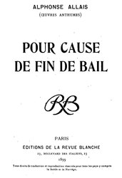 Alphonse Allais: Pour cause de fin de bail