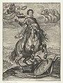 Allegorisch ruiterportret van Frederik Hendrik na de verovering van Maastricht, 1632 Invictiss Heroi Frederico Henrico Principi Auriaco Com. Nass. etc. Foed. Belgiae Exerc. Imperatori Fort. (titel op object), RP-P-OB-81.344.jpg