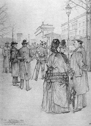 Christian Wilhelm Allers - Image: Allers Spree Berlin (Brandenburger Tor)