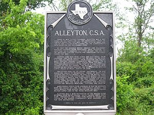 Alleyton, Texas - Image: Alleyton TX Historical Marker