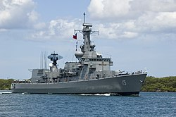 Chilean frigate Almirante Blanco Encalada (FF-15) at Pearl Harbor, 2006.