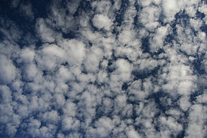 Altocumulus cloud formation
