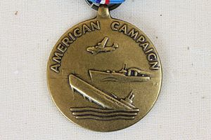 American Campaign Medal - The obverse of the American Campaign Medal