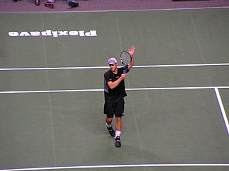 Andy Roddick - Roddick on his way to the first tournament win of 2005