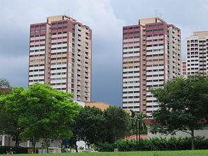 Ang Mo Kio - Point blocks in Ang Mo Kio New Town.