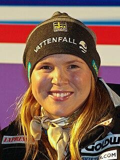 Anja Pärson Swedish female alpine skier