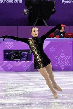 Anna Khnychenkova at the 2018 Winter Olympic Games - Short program 08.jpg