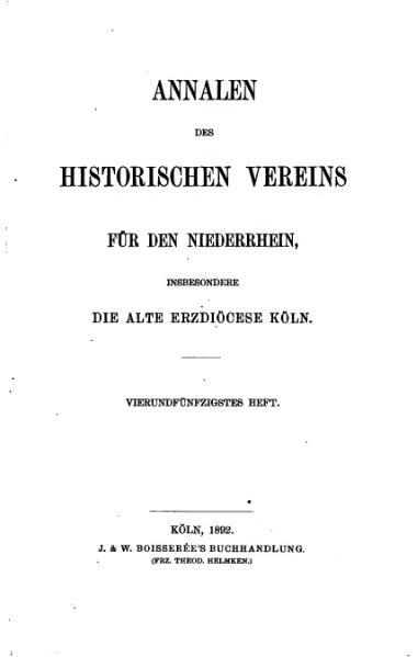 File:Annalen des Historischen Vereins für den Niederrhein 54 (1892).djvu