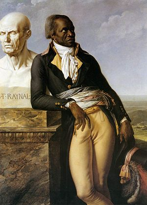 Jean-Baptiste Belley - Belley, with the bust of the philosophe Raynal, portrait by Girodet