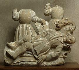 Groupe statuaire à trois personnages dont un étranglé par un monstre
