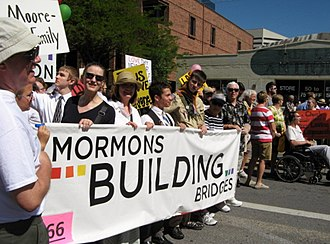 Mormons Building Bridges - MBB marching in the SLC Pride Parade