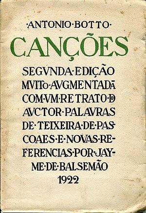 António Botto - Canções, 2nd edition, 1922