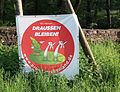 Anti-wind farm sign in Reinhardswald forest (Sababurg), Hessen, Germany.jpg